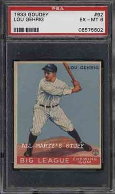 Image detail for -GRADED BASEBALL CARDS : Old Vintage Baseball Cards, Basketball Cards ...