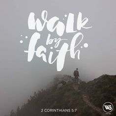 walkthesame: Walk by Faith Type & Edit by Christeen Janning Knowing that He who raised up the Lord Jesus will also raise us up with Jesus and will present us with you Therefore we do not lose heart. Even though our outward man is perishing yet the inward man is being renewed day by day. For our light affliction which is but for a moment is working for us a far more exceeding and eternal weight of glory while we do not look at the things which are seen but at the things which are not seen…