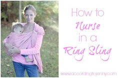 How to Nurse in a Ring Sling #babywearing #breastfeeding