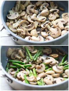 Rice with Mushroom and Asparagus - Primavera Kitchen