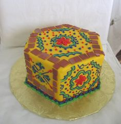 Mexican themed 1st birthday party cake. Love it!!!