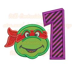 Ninja Turtle Embroidery Applique Design  st