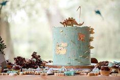 Cake from a Glam Rustic Dinosaur Birthday Party on Kara's Party Ideas   KarasPartyIdeas.com (3)