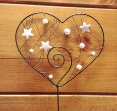 Zápich srdce - bílé hvězdy