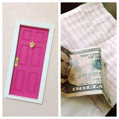 The Tooth Fairy's First Visit - Tooth Fairy Door - Glitter Money - Tooth Fairy Ideas