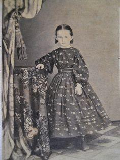 Sweet Little Girl Pretty Hoop Dress Antique Civil War CDV Photo Travel Artist   eBay