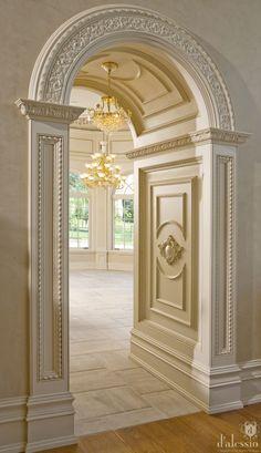 Showcase - European Inspired Kitchen beautiful door frames
