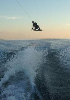 Wakeboarding. Been here done that but it's always nice to do it over :)