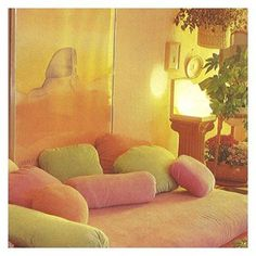 Vintage dreaming: Must go to sleep. Want sleep now. This place looks like fairy floss, fluffy heaven. (Image via #pinterest) #buyvintage #80s #80shome || Desert Lily Vintage ||