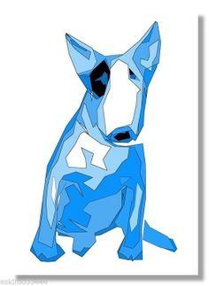 Bull Terrier Funny, Bull Terrier Tattoo, Fox Terrier, Bully Terrier, Dog Pop Art, Dog Art, Miniature Bull Terrier, Pop Art Artists, Pop Art Posters