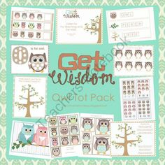 Owl Preschool Pack from LittleMonkeyPrintables on TeachersNotebook.com (27 pages)