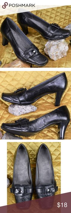 Aerosoles Aerology Black Pumps Women's Size 6.5 B Women's beautiful black crocodile heels in very good pre-owned condition!!   **If you appreciate old school quality - you're in the right place. We don't just sell products, we put time & work into them. PLUS. we ship FAST! Usually within 1 business day! Thank you for poshing in my closet!! 😘🤟🌹 AEROSOLES Shoes Heels