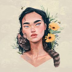 New cute illustration art inspiration artworks 30 ideas Art Painting, Cute Art, Art Girl, Illustration Art, Art, All Art, Portrait, Portrait Art, Aesthetic Art