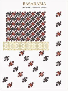 traditional Romanian pattern - north of Bessarabia Embroidery Sampler, Folk Embroidery, Cross Stitch Embroidery, Embroidery Patterns, Cross Stitch Borders, Cross Stitch Designs, Cross Stitching, Cross Stitch Patterns, Palestinian Embroidery
