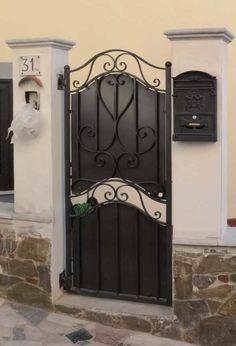 Iron Gates, Home Decor Styles, Armoire, Furniture, Garden, Cast Iron, Houses, Modern Gates, Iron Doors