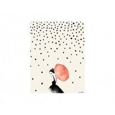 O Poster Polka Rain é perfeito para dar um toque descontraído as paredes de salas de estar e jantar e quartos.