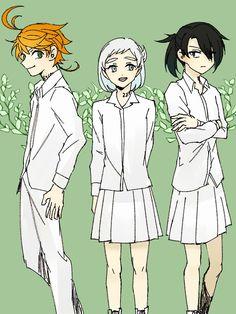 The promised neverland Gender Swap, Gender Bender, Mystic Messenger, I Love Anime, Otaku Anime, Neverland, Live Action, Girl Ray, Cute