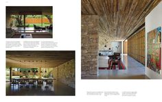 check out the extension of the wall indoors + ceilings + stonework