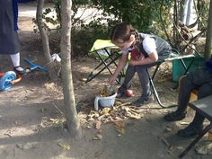Building camp fires and cooking leaf stew :)