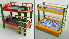 4 Popsicle Sticks Bunk Bed