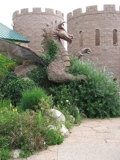 Dragon sculpture ~ Botanical Gardens (Children's Garden), Albuquerque, New Mexico, USA New Mexico Usa, Travel New Mexico, Oh The Places You'll Go, Places To Visit, Dragons, Gardens Of The World, Albuquerque News, New Mexican, Land Of Enchantment