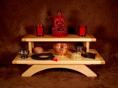 Puja Table 2 Tier Table Top Meditation By Theyankeewoodsmith. , Via Etsy.