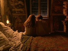 7/17/14  6:23a  Warner Bros. Pictures ''The Secret Garden''  Mary Lennox and Colin Craven  Looking at Photo's  1993