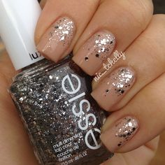 #OPI - Samoan Sand as the base with #Essie - Set In Stones