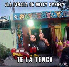 Piñata de Miley Cyrus