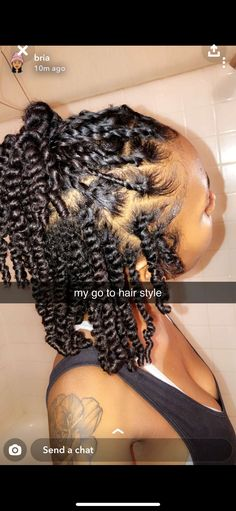 Braids make hair grow. When we remove our additions, we often see a net regrowth. So we think it's thanks to the braids! Certainly the protective hairstyles of this type allow our… Continue Reading → Cute Natural Hairstyles, Protective Hairstyles For Natural Hair, Natural Hair Braids, Natural Hair Care, Natural Hair Styles, Twist On Natural Hair, Natural Protective Styles, Natural Twists, Short Hair Twist Out