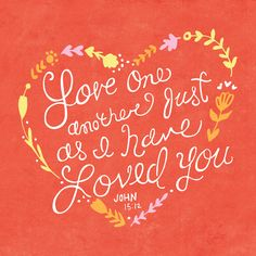 Love one another just as I have loved you -- John 15:12. Here's one of our favorite images from 100 Illustrated Bible Verses. Like a contemporary update on medieval illuminated manuscripts, the book combines the timeless words of the Bible with timely artwork—in this case, hand-lettering and illustration in a variety of beautiful styles and remarkable aesthetics from 25 contemporary artists. It's a new and vibrant way to experience the living word.