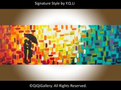 Romantic Painting Original Abstract Painting  by QiQiGallery, $185.00