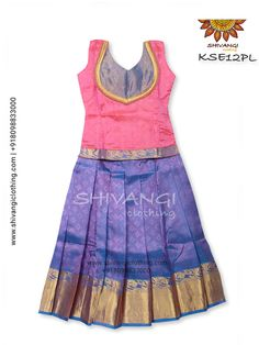 blouse designs for pattu pavadai for girls - Page Not Found - Yahoo India Image Search results Half Saree Designs, Silk Saree Blouse Designs, Kids Blouse Designs, Blouse Neck Designs, Baby Dress Design, Frock Design, Churidar Designs, Lehenga Designs, Dresses Kids Girl