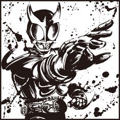 White Art, Black And White, Kamen Rider Series, Anime Cat, Hero Arts, Power Rangers, Poppies, Darth Vader, Comic Books