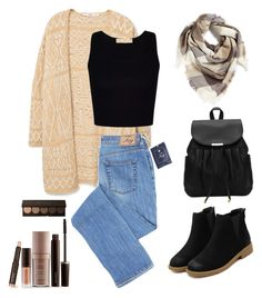 """""""Untitled #172"""" by aya-hussien-nasrallah ❤ liked on Polyvore featuring MANGO, BP. and Laura Mercier"""