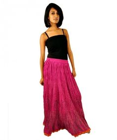 Rajasthani Print Wrape Around Women Skirt with Matching Top Tank ...