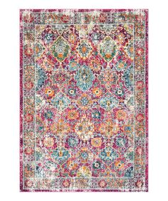 Look at this Pink Persian Leilani Rug on #zulily today!
