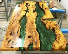 Olive epoxy resin table bench with Olive epoxy consollive edgeepoxy river table custom special furniture river table topValnut woodr Epoxy Table Top, Epoxy Wood Table, Epoxy Resin Table, Bancada Epoxy, Hardwood Floor Care, Epoxy Countertop, Live Edge Countertop, Resin Furniture, Natural Wood Furniture