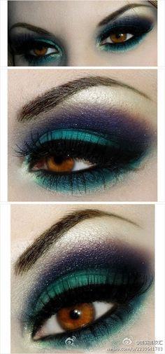 eyes turquoise navy blue