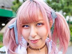 pink Hair | Pink Hair, Purple Lenses | Flickr - Photo Sharing!