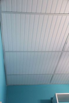 Dress Up A Drop Ceiling By Replacing Fibergl Tiles With Beadboard Unskinny Boppy