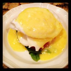a newlywed's kitchen: Caprese Eggs Bendedict