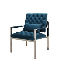Lowest price on Abbyson Living Isabel Teal & Stainless Steel Accent Chair OD-ZW-771-BLU. Shop today!