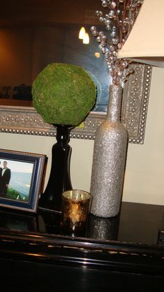 DIY: Glittering a Wine Bottle. Or any other bottle for that matter. ;)