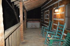The porch at night