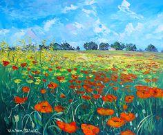 Poppy Field, Oil on canvas , by Helen Blair www.helenblairsart.co.nz