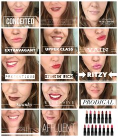 The entire lipstick collection showcased on my lips!! If you want to see more or shop the collection...click the pic! #Lipstick #Lippy #FallMakeupTrend2015 #FallMakeup #AutumnMakeupTrend #NewtProductLine