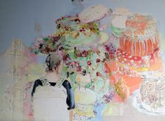 "Franziska Klotz ""Torten"". Oil on canvas"