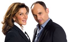 David Visentin and Hilary Farr from Love It Or List It. I wish she could come to my house and decorate. I really like her design talent.....and I really like his personality.