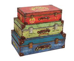 Set de 3 cajas de metal